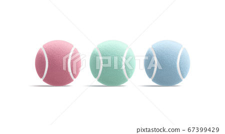 Blank colored tennis ball mock up, front view 67399429