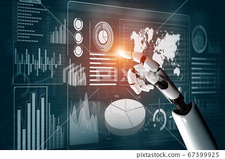 Futuristic robot artificial intelligence concept. 67399925