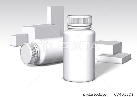 白色背景藥品container_3 67401272