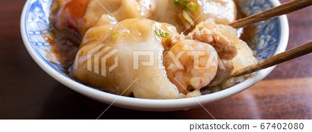 台灣 小吃 美食 肉圓 肉丸 一口肉圓 蝦仁肉圓 meatball bawan 台湾風ミートボール 67402080