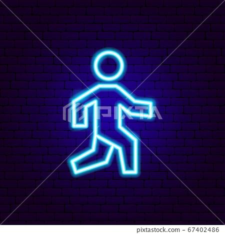 Pedestrian Neon Sign 67402486