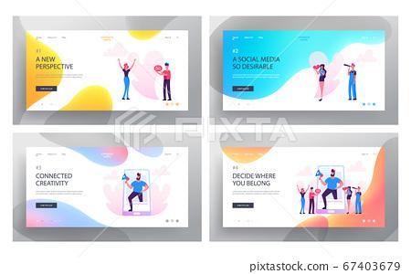 Social Media Relations, Blog, Website Landing Page Set, Smart Technologies, Blogging, Internet Communication, Profile Accounting 67403679