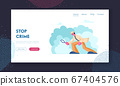 Police Detective Investigating Crime Website Landing Page. Inspector Looking through Magnifier Glass Searching Evidence on Ground for Robbery Solving Web Page Banner. Cartoon Flat Vector Illustration 67404576