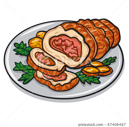 meat pork roulade 67406487