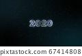 2020年漂浮在黑色背景和閃光 67414808