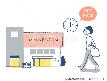 오프 피크 쇼핑을하는 여성 67415851