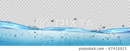 Realistic transparent Water waves with air bubbles 67418923