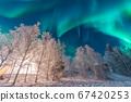 加拿大耶洛奈夫冬季極光 67420253