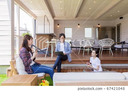 시골의 임대 공간에서 휴식 청소년 67421048