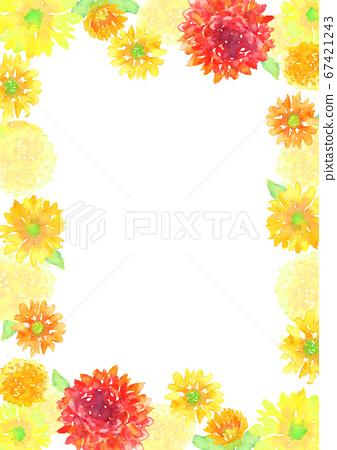 水彩畫畫花卉背景 67421243