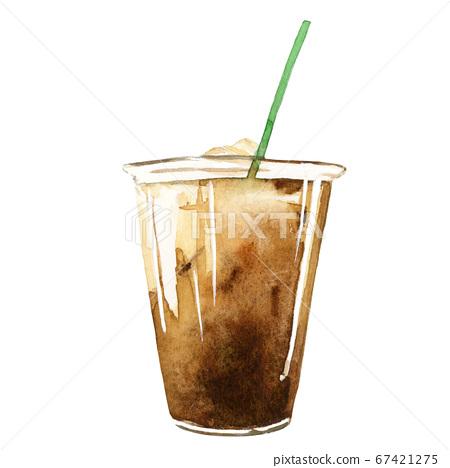 아이스 커피 수채화 67421275