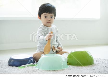 가족,아기,장난 67423680
