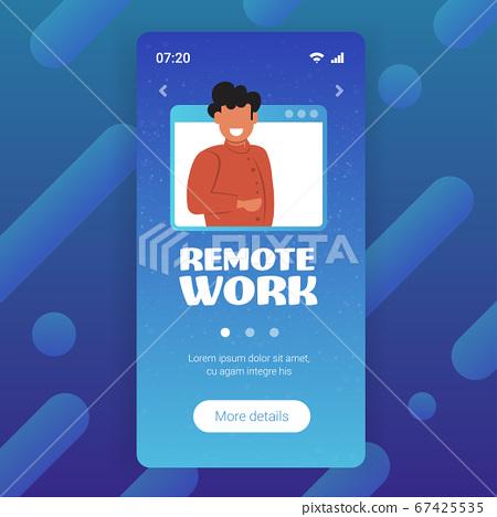 businessman having online consultation during video call remote work quarantine isolation concept 67425535