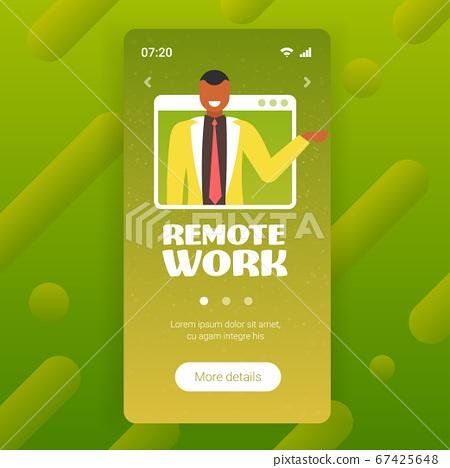 businessman having online consultation during video call remote work quarantine isolation concept 67425648