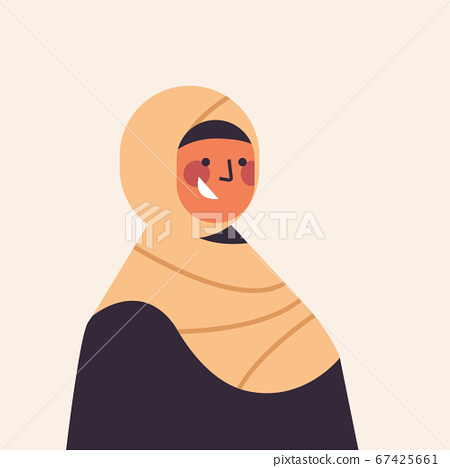 arabic woman in traditional clothes smiling arab girl avatar female cartoon character portrait 67425661