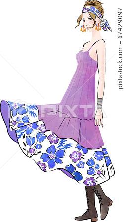 波西米亞時尚女人 67429097