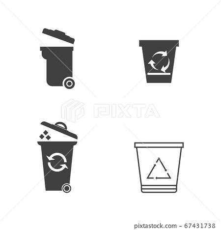 Trash icons vector illustration design 67431738