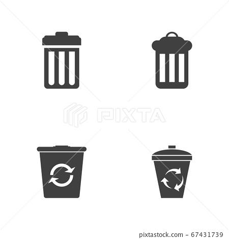 Trash icons vector illustration design 67431739