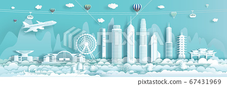 Travel Landmark downtown China Hong Kong with 67431969