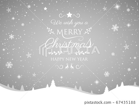 Christmas greeting card with shiny snowflakes. Vector. 67435188