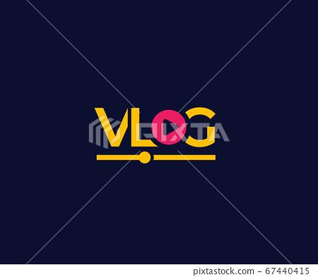 Vlog vector logo on dark 67440415