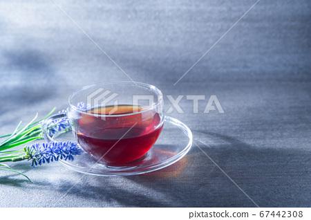 紅茶在透明的玻璃中發光。療愈/休息/咖啡/下午茶時間 67442308