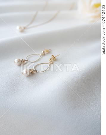 珍珠耳環吊墜配件 67442438