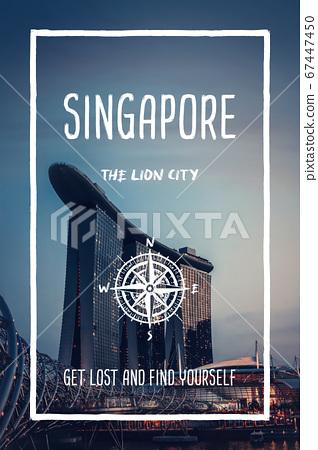 Singapore, the lion city. Trendy travel design, 67447450