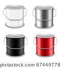 Realistic vector 3D mockup paint can set. Realistic template for advertising paintwork products. 67449778