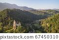 Medieval Bran castle. Brasov Transylvania, Romania 67450310