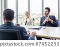 business people sitting listen and present reviews in meeting room, leadership present. 67452233