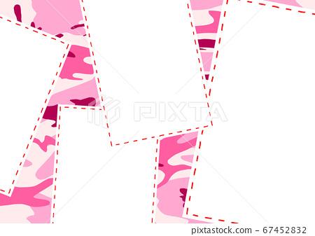 Stitch frame pink camouflage background 67452832
