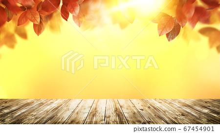 模擬照片風格的秋葉圖像 67454901