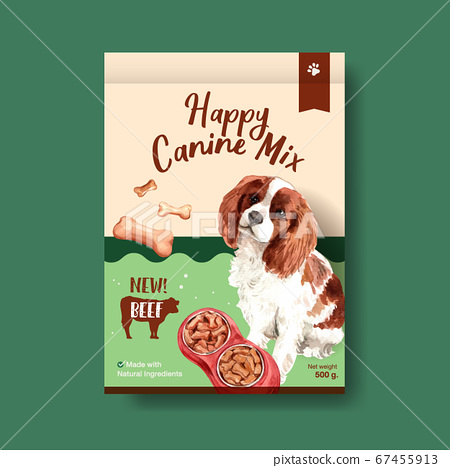 packaging template with dogs and food design for 67455913