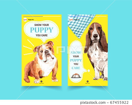 Instagram template with dogs design for social 67455922