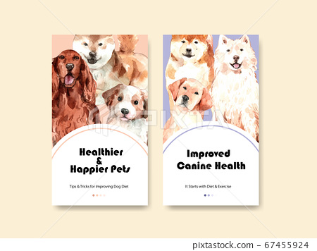 Instagram template with dogs design for social 67455924