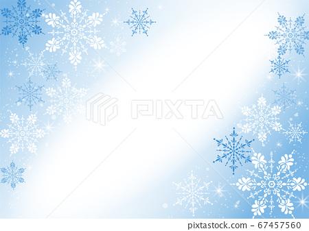雪花背景例證 67457560
