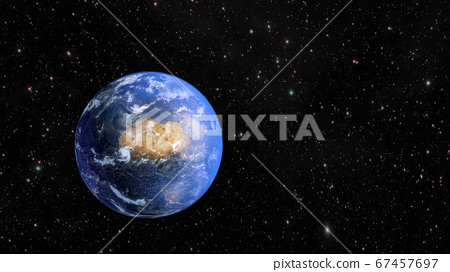 Planet Earth and continent Africa. 3D rendering 67457697