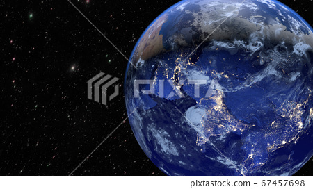 Planet Earth. The radiance of the cities of Asia, 67457698
