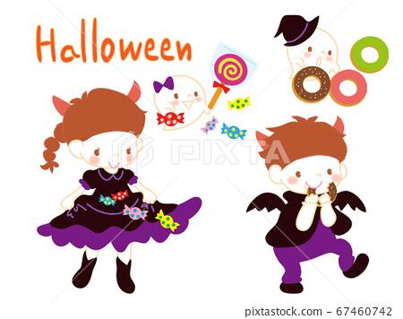 Halloween sweets and children 67460742