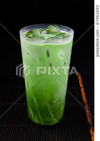 美味的冰抹茶拿鐵或抹茶大豆拿鐵 67462685