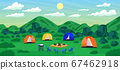 Tourism Travel to relax camping in the green hills. 67462918