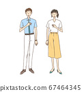 Business man and businesswoman in summer clothes 67464345