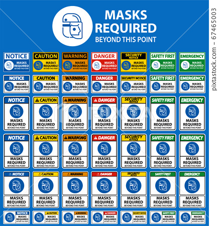 Symbol Masks Required Beyond This Point Sign 67465003