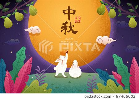 Mid-autumn festival illustration 67466002