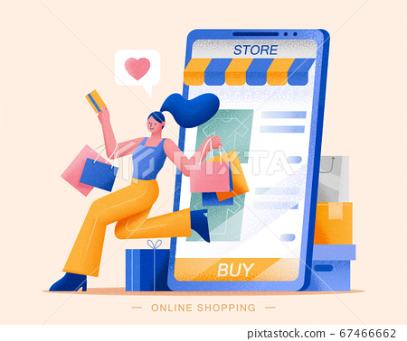 Online shopping concept 67466662