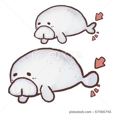 R: Fairy tale aquarium Dugong Manatee Difference 67466748