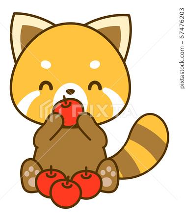 小熊貓吃矢量圖 67476203