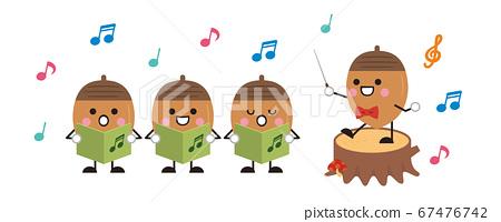 合唱歌曲音乐指挥橡子橡子秋天插图 67476742