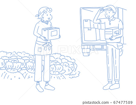 Farmer woman shipping directly from the production area 67477589